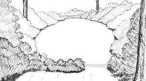 easy to draw landscapes how to draw a mountain landscape for kids