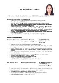 Resume Employment History Examples by Resume Sample Profile Description How I Can Get A Job How To
