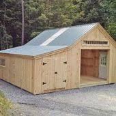 Little Barns 14x20 One Bay Garage Customzied Exterior Outdoor Decor