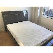 queen size bed frame w headboard aptdeco