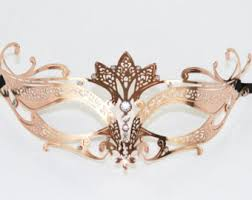 masquerade mask gold laser cut metal masquerade mask with clear