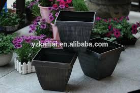 Square Planter Pots by 2014 New Flower Pots Garden Plant Pot Brush Paint Square Plastic