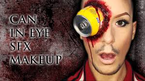 gory can in eye easy sfx halloween makeup tutorial inspired by