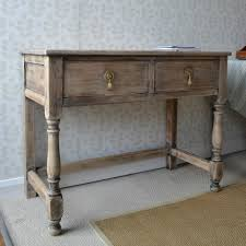 Oak Console Table With Drawers Used Console Table Vintage And Use Consoles Tables By Chairish