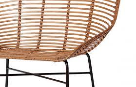 chaise tress e fauteuil en rotin naturel tressé pièce à vivre