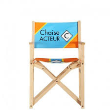 chaise personnalis e chaise d acteur chaise personnalisée et cube personnalisé macap