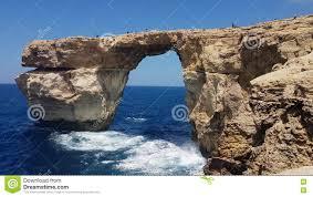 Azure Window by Gozo Island Malta 03 August 2016 Tourists Climbing On The