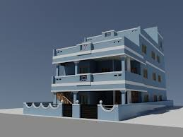 3d duplex house autocad cgtrader