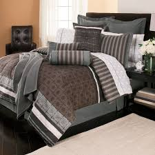 Bedroom Grey Carpet White Walls Bedroom Comforters And Bedspreads With White Curtain And Brown