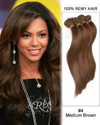 remy human hair extensions 4 medium brown hair bundles weave remy human hair extensions