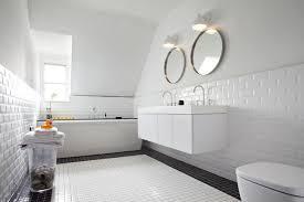 white beveled subway tile bathroom fashionable white beveled