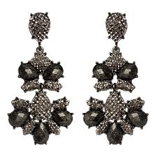 black chandelier earrings black rainbow chandelier earrings shop amrita singh jewelry