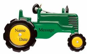 buy green tractor ornament personalized ornament from