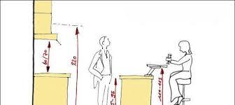 hauteur entre meuble bas et haut cuisine distance entre plan de travail et meuble haut a retenir centimtres