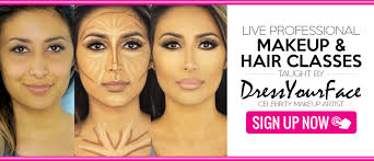makeup and hair classes home page backup before putting upgrade dressyourface live