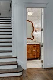 Wood Floor In Powder Room - traditional bathroom ideas and photos interior design ideas