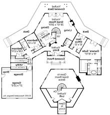 Octagon Shaped House Plans Hexagonal House Plans Hahnow