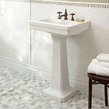 Fitzgerald 24 Inch Pedestal Sink Three Hole Dxv