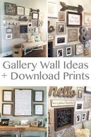 step by step instructions on how to create a gallery wall big