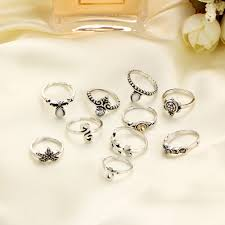 aliexpress buy new arrival 10pcs silver gold aliexpress buy 10pcs set silver gold color finger rings 2017
