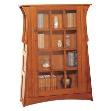 White Bookcases With Glass Doors by Furniture Wood Bookcase With Glass Doors With Mission Style Bookcase
