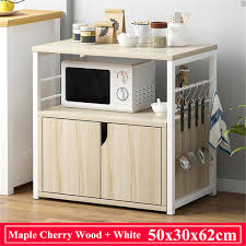 kitchen pantry storage cabinet microwave oven stand with storage kitchen organizer dishes rack shelf multi storage floor standing space save oven stand with drawer