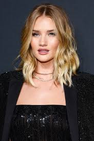 rosie huntington side parted lob 19 long ass lobs to inspire your next haircut lob haircuts and bobs