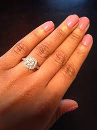Halo Wedding Rings by Round Center Stone With Cushion Halo Engagement Rings Weddingbee