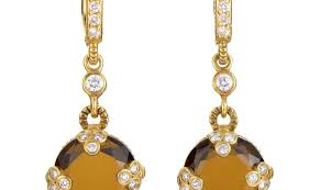 judith ripka earrings jewelry judith ripka judith ripka 18k yellow gold diamond and
