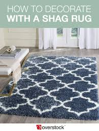 how to decorate with a shag rug overstock com