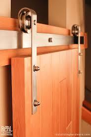 Indoor Closet Doors Sliding Barn Door Hardware Stainless Steel Rubbed Bronze