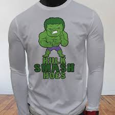 Hulk Smash Meme - funny humor college meme muscle hulk smash hoes mens white long