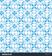 seamless blue flower pattern background stock vector 473590537