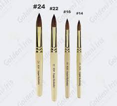 professional oval kolinsky acrylic nail brushes 24 22 16 14