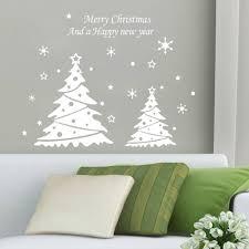 wholesale diy new year christmas doubles tree wall decor merry description