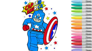 lego captain america coloring book pages marvel avengers comics