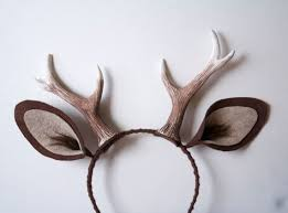 deer ears headband faun 6 antlers and ears headband brown deer costume