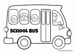 coloring page pretty bus to color the kindergarten
