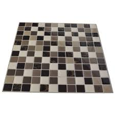 DIY Vinyl Tile Backsplash Adhesive Wall Covering For Kitchen - Covering tile backsplash