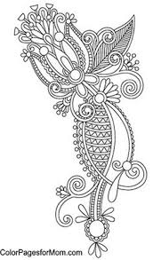 paisley abstract doodle zentangle coloring pages colouring