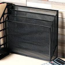 Wire Mesh Desk Organizer Mesh Desk Organizer Universal 5 8 X 3 5 8 X 1 2 Black 3 Section