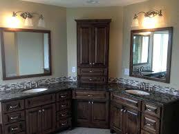 White Corner Cabinet For Bathroom by Bathroom Storage Corner Bathroom Vanity Double Sinks Corner