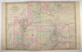 Western Colorado Map by 1881 Colton Colorado Map Wyoming Utah Map Western Us States