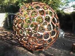 Sphere Fire Pit by Inside The 2m Steel Sphere Handmade From Scrap Youtube