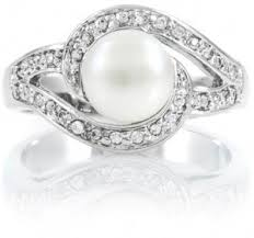 pearl and diamond engagement rings pearl rings with diamonds pearl engagement rings is elegance