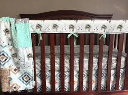 Minky Crib Bedding Boy Crib Bedding Dreamcatcher Free Aztec And Fawn Minky