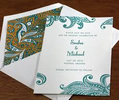 digital save the date save the date letterpress wedding invitation