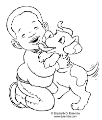 baby boy coloring page free download