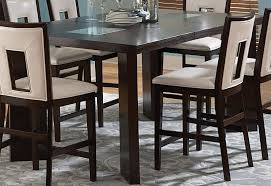 Espresso Dining Room Furniture by Delano Espresso Cherry Extendable Counter Height Dining Table From