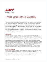 thread scaleability across large networks silicon labs community